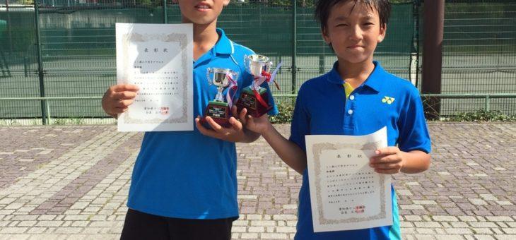 愛知県ジュニアテニス選手権大会 男子ダブルス11歳以下 準優勝!
