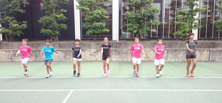 強化ジュニアのチーム練習