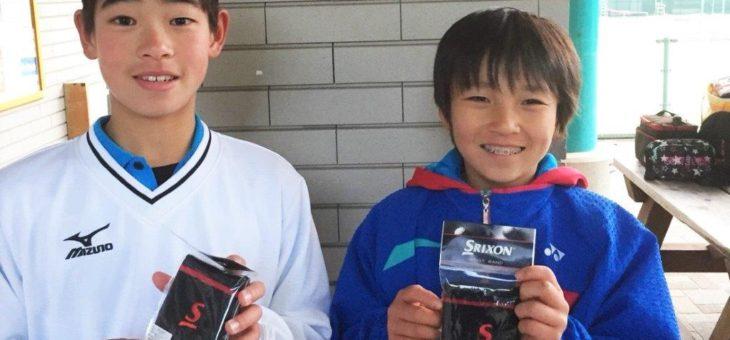 第5回東海ジュニアテニストーナメント 12歳以下男子ダブルス 第4位!