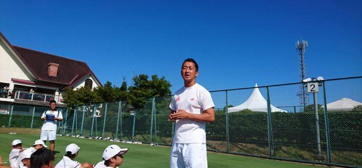 第4回グラスホパージュニアテニスキャンプ 2日目