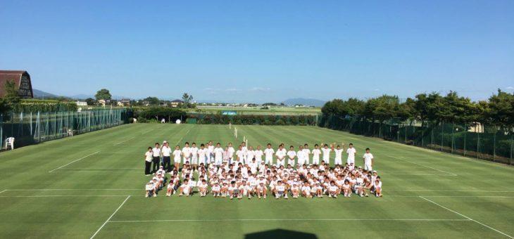 第4回グラスホパージュニアテニスキャンプ 初日