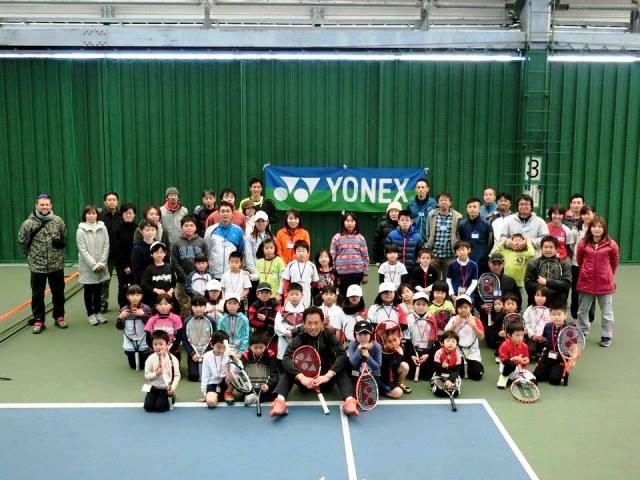 YONEX kids Tennis Acdemy in 岐阜のPLAY +STAY 講習会と岐阜ジュニアウィンタートーナメント