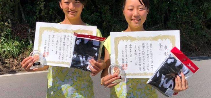 愛知ジュニアサマーテニストーナメント 14歳以下女子ダブルス 第3位!